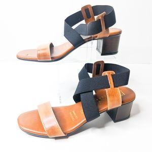 ITALIAN SHOEMAKERS Brown + Black Sandals